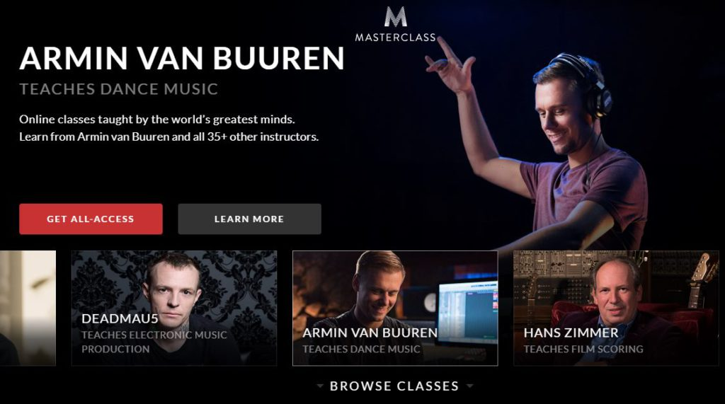 Masterclass music production courses