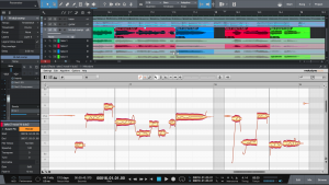 Melodyne plugin inside of PreSonus Studio One 3