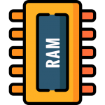 Computer RAM chip icon