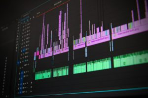 Monitor with music production software