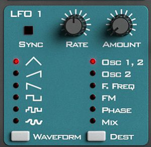 Propellerhead Reason Subtractor Synth LFO controls