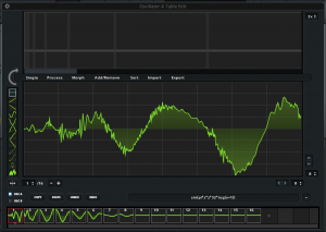 A wavetable inside Xfer's Serum