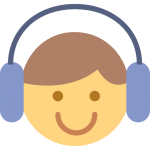 Smiling face with headphones