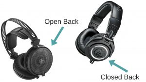 open back headphones vs closed back headphones