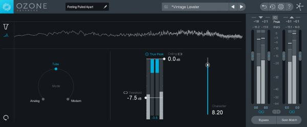 Dynamics and Vintage Limiter in iZotope Ozone 8