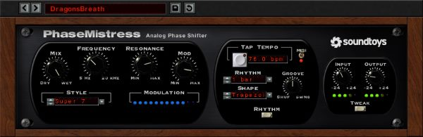 PhaseMistress Phaser by Soundtoys